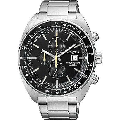 Orologio in acciaio cronografo Vagary collezione Rockwell