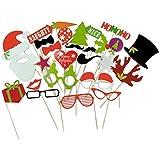 FENICAL 27 Piezas Accesorio de Fotografía Apoyos de la Foto Decoración Navidad Fiesta