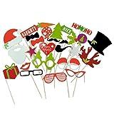 Pixnor 27Pcs Photo Booth les accessoires Kit de bricolage pour Noël fête d'anniversaire de mariage