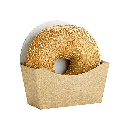 packnwood Kraft to-go Bagel Box, 11,9x 11,9x 4,3cm braun (1000Stück)
