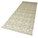 DomDeco In- und Outdoor-Teppich Caro Beige 200 x 80 cm Kunststoff für Innen und Außen