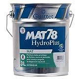 GUITTET - Peinture Guittet Mat 78 HydroPlus blanc 3L - Mat, Blanc