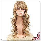 Perücke Gold Braun Flauschige Natürliche Lange Lockige Haare Chemische Faser Perücke Womens Cosplay Partei