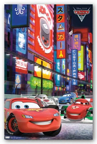 Cars 2 Movie Poster - Racing Kunstdruck (Cars Poster Movie 2)