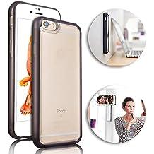 Antigravity Phone Case iPhone 5, Vandot Selfie Carcasa Anti-Gravity Nano Mágica Absorción de Silicona Caso de Cubierta de Succión para el iPhone 5s SE Smartphone - Blanco Marrón