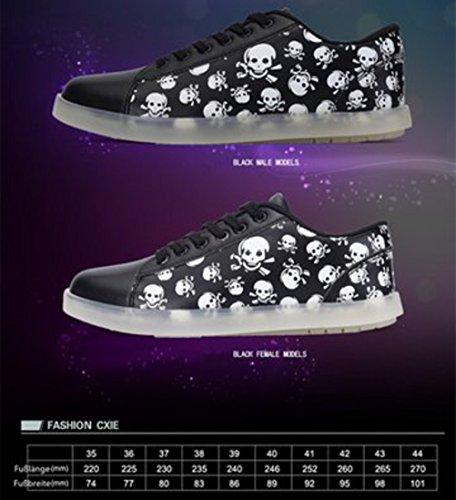 Sportschuhe Nacht Sneaker Farbe Mode junglest® Outdoorschuhe Licht Freizeitschuhe Schuhe Schwarz F kleines Handtuch present Laufschuhe Leuchtend W0x8UE