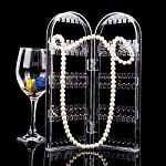 Stop fishing through your jewelry box to find the other earring or untangle those necklaces! Display your jewelry with this elegant earring and necklace holder. Sleek design compliments any dresser or vanity. The two-fold, upright design of the Folda...