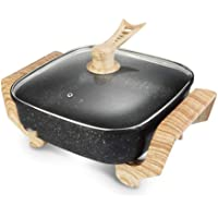 FUDIV Antiadhésif Wok électrique multi-fonction électrodomestiques Cuisinière électrique Hot Marmite Barbecue Une…