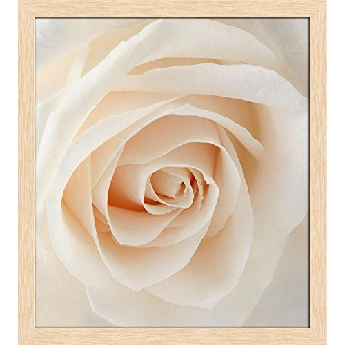 ArtzFolio White Rose Canvas Painting Natural Brown Wood Frame 20 X 22.4Inch Rose Natural Wood