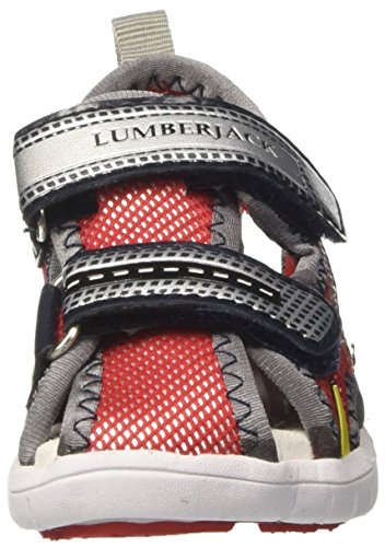 Lumberjack  Spongy Bright, Tongs pour garçon Rosso (Red/Black)