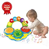 Baby Toys 6-12 Months Portable Musical Toys Drums Piano Musical Instrument Early Education Toy Music/Light/Funny sound Baby Toys For 1 2 3 4 Year Old Boys Girls Toddlers Kids Toys-Two colors random