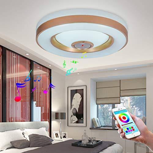 Restaurant-beleuchtung (26 W LED Deckenleuchte integriertem Bluetooth Musik Lautsprecher und RGB Farbwechsel Deckenlampe Modern Circular Beleuchtung für Schlafzimmer Restaurant Wohnzimmer Kinderzimmer)