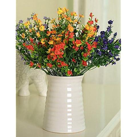 flores artificiales, Seda / Plástico Gipsófila / Lavanda Flores Artificiales , white
