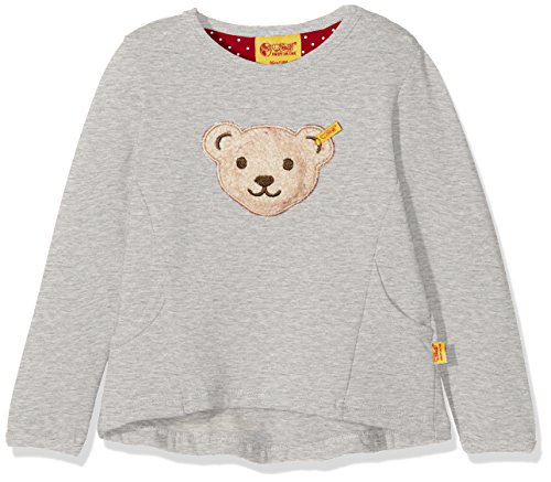 Steiff Baby-Mädchen Sweatshirt 1/1 Arm, Grau (Snow Grey Melange|Gray 8359), 80