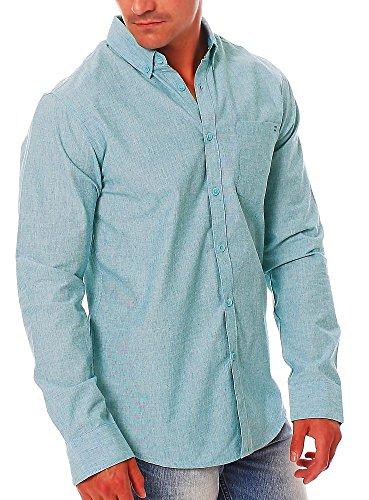 All day billabong chemise à manches longues pour homme Bleu - marine