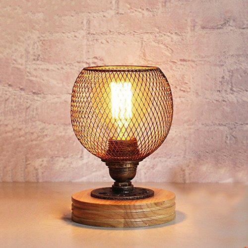 Vintage Industrial Metall Tischlampe Retro Wasser Rohr Schreibtischlampe Nachttischlampe E27, Arbeitszimmer Büro Bars Cafés dekorative Tischlampe, 110V-220V XIANGYU ( Farbe : Button switch ) (2 Glas Quadrat Vase)