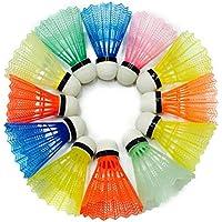 VORCOOL 12pcs Volantes de nylon de la pluma que entrenan a bádminton plástico