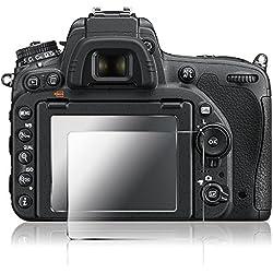 AFUNTA Films de Protection d'Ecran pour Nikon D500, 2 Paquets de Protecteur de Caméra en Verre Trempé Optique