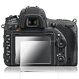 Pellicola Protettiva per Nikon D500, AFUNTA 2 Pack Pellicola Vetro Temperato Screen Protector Proteggi Schermo Antigraffio per DSLR Camera