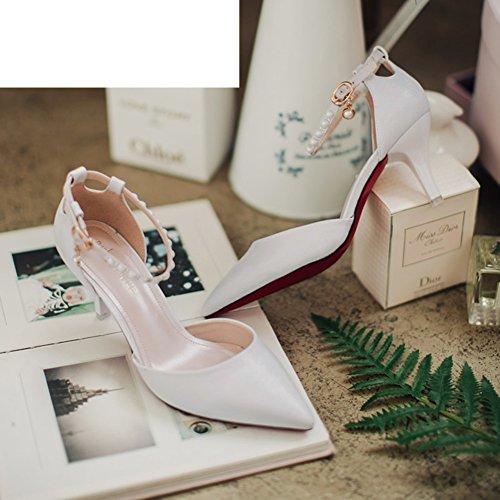 Sandales d'été/Sweet shoes/Pearl chaussures/Chaussures pointues/Talons aiguilles A