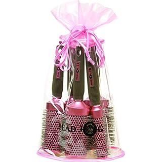 Head Jog Oval Bag Brush Set, Pink