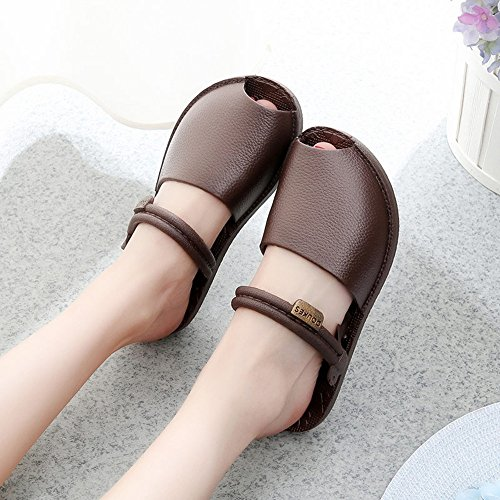 Cailin Sandals, Pantoufles mode Pantoufles plates Sandales loisirs avec 3 couleurs ( Couleur : #1 , taille : 39 ) #3
