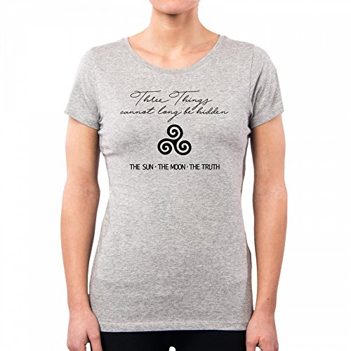 PacDesign T-Shirt Damen Teen Wolf Alpha The Sun Moon Truth Rs0009a, M, Lightgrey