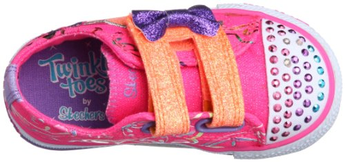 Skechers Shuffles Double Adore, Baskets mode fille Rose (Npmt)