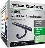 Rameder Komplettsatz, Anhängerkupplung starr + 13pol Elektrik für OPEL MERIVA B Großraumlimousine (143086-08549-1)