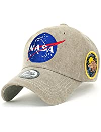 ililily NASA Meatball Logo Embroidery Baseball Cap Apollo 13 Patch Trucker Hat