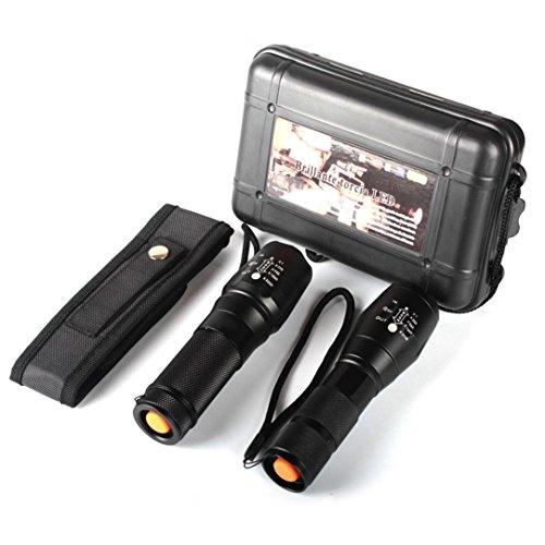Fami 2x 5000lm X800 ShadowHawk Torcia tattica LED Luce Militare G700 Torcia Lampada (Nero)