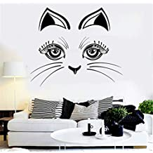 zzlfn3lv Hermosa decoración del hogar calcomanías de Pared de Vinilo Gato Gatito Cara Animal de la