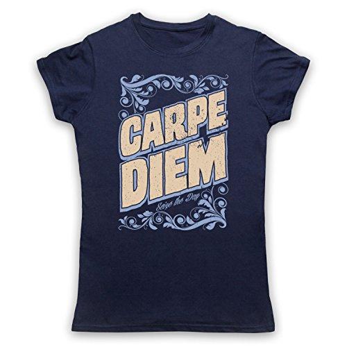 Carpe Diem Seize The Day Damen T-Shirt Ultramarinblau