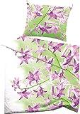 Fussenegger Bettwäsche, Mako-Satin, 2 teilig, Kopfkissenbezug und Bettbezug, pink, 135x200 + 80x80 cm, für Allergiker geeignet