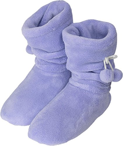 normani Damen Wintertrend Hausschuhe Stiefel Booties VIELE Farben ZUR Auswahl Farbe Lila Größe 39/42