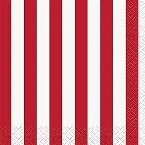 Partido Único tiras de 5 pulgadas de servilletas de papel (16, paquete rojo)