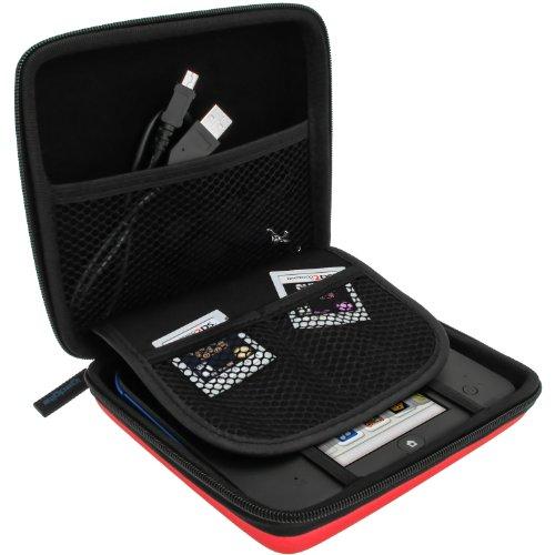 igadgitz Rot EVA Hart Tasche Case Cover für Nintendo 2DS