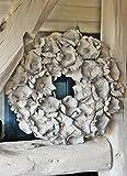Homeclassics Großer Shabby Blüten Kranz altweiß Türkranz Wandkranz Ø 45 cm Naturkranz Landhaus