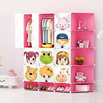 NEW 2017 Design Kids Wardrobe Childrens Storage Cabinet Boxes Toy