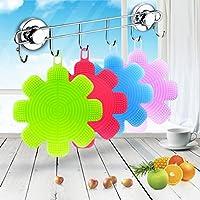 Éponge silicone, Tpulling Vaisselle en silicone éponge lave linge outil de nettoyage de cuisine (random color)