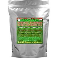 Hard Wearing Grass Seed 20-40 SQ Metres - GREEN GLEN Special Diamond Lawnseed Mix for Hardy Ornamental Lawns, Sports, Amenity, Recreation and Play Areas.