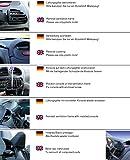 KUDA Navigationskonsole passend für: Navi Peugeot 206 ab 10/98 /Cabrio 206 CC Echtleder schwarz