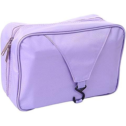 HDE viaggio personale doccia Organizer da appendere Toiletry Wash Bag borsa da bagno Lavender