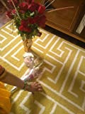 #2: Carpet and Floor Covering Rugs T ShapE White Yellow Carpet Best for Living and Dining Room 4.5 feet by 6.5 feet Best for Home Decor