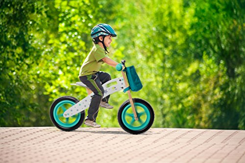 Draisienne Runner Stars vélo Vert en Bois sans pédales écologique Apprentissage