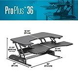 VARIDESK Pro Plus 36 Stehtisch, höhenverstellbar, Schwarz - 5
