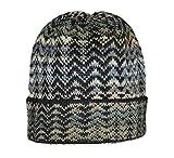 Invisible World Damen und Herren 100% Alpaka Wintermütze - Handgestrickte und warme Winter Beanie Mütze - Noelle Blau - Größe M
