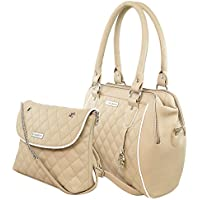 Flying berry Women's Handbag COMBO (Beige, FB 3056 COMBO)