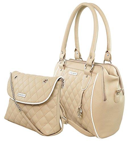 Flying berry Women's Handbag COMBO (Beige, FB 3056 COMBO)