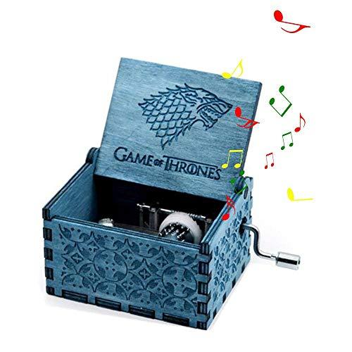 MOGOI Holz-Spieluhr, handgekröpft, spielt die süße des Songs, Merry Christmas, Geschenk (Die Schöne und Das Biest, Star Wars, Spiel der Rechten, Pirates of The Karibik) 3
